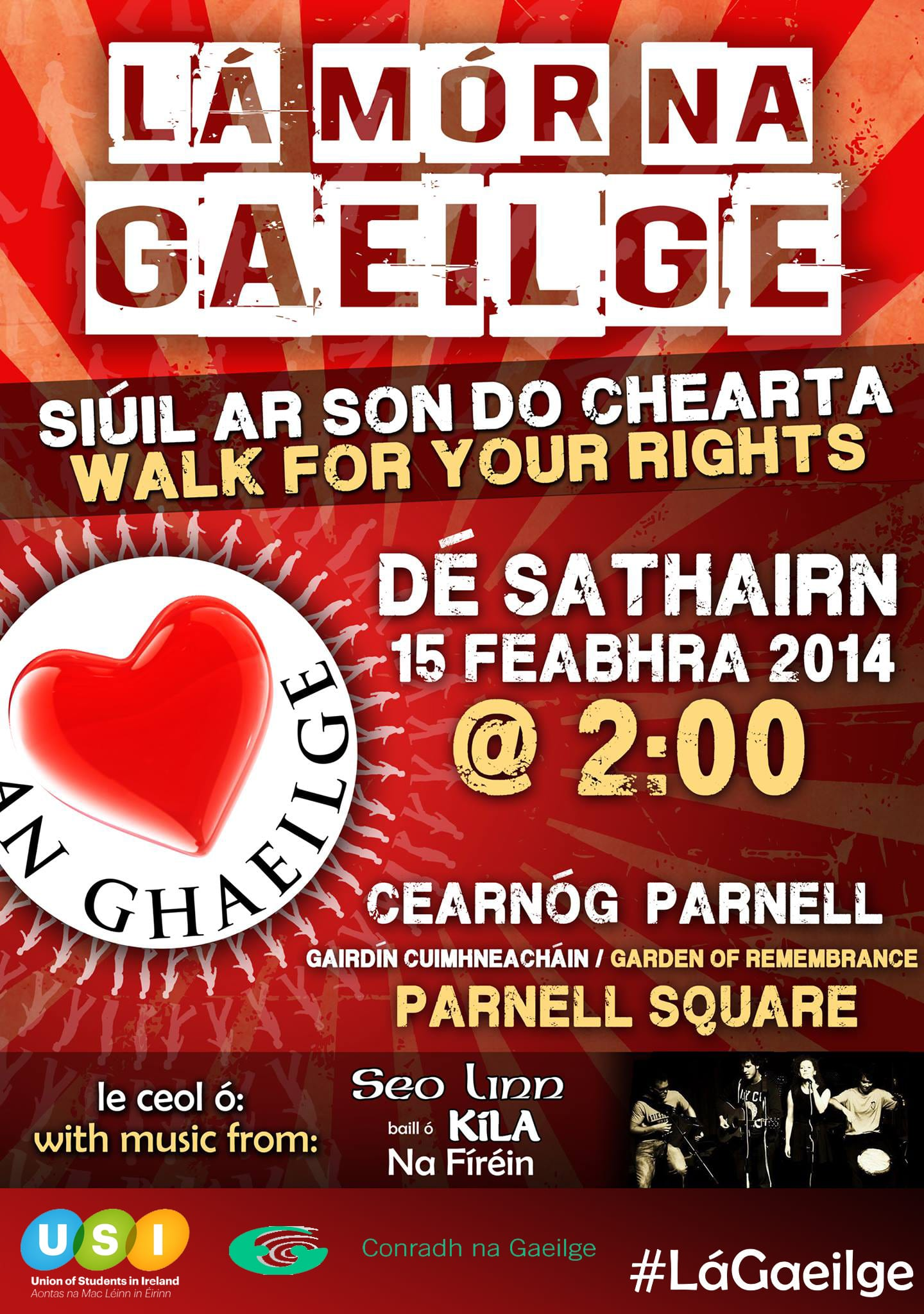 Students Marching for Irish Language Rights
