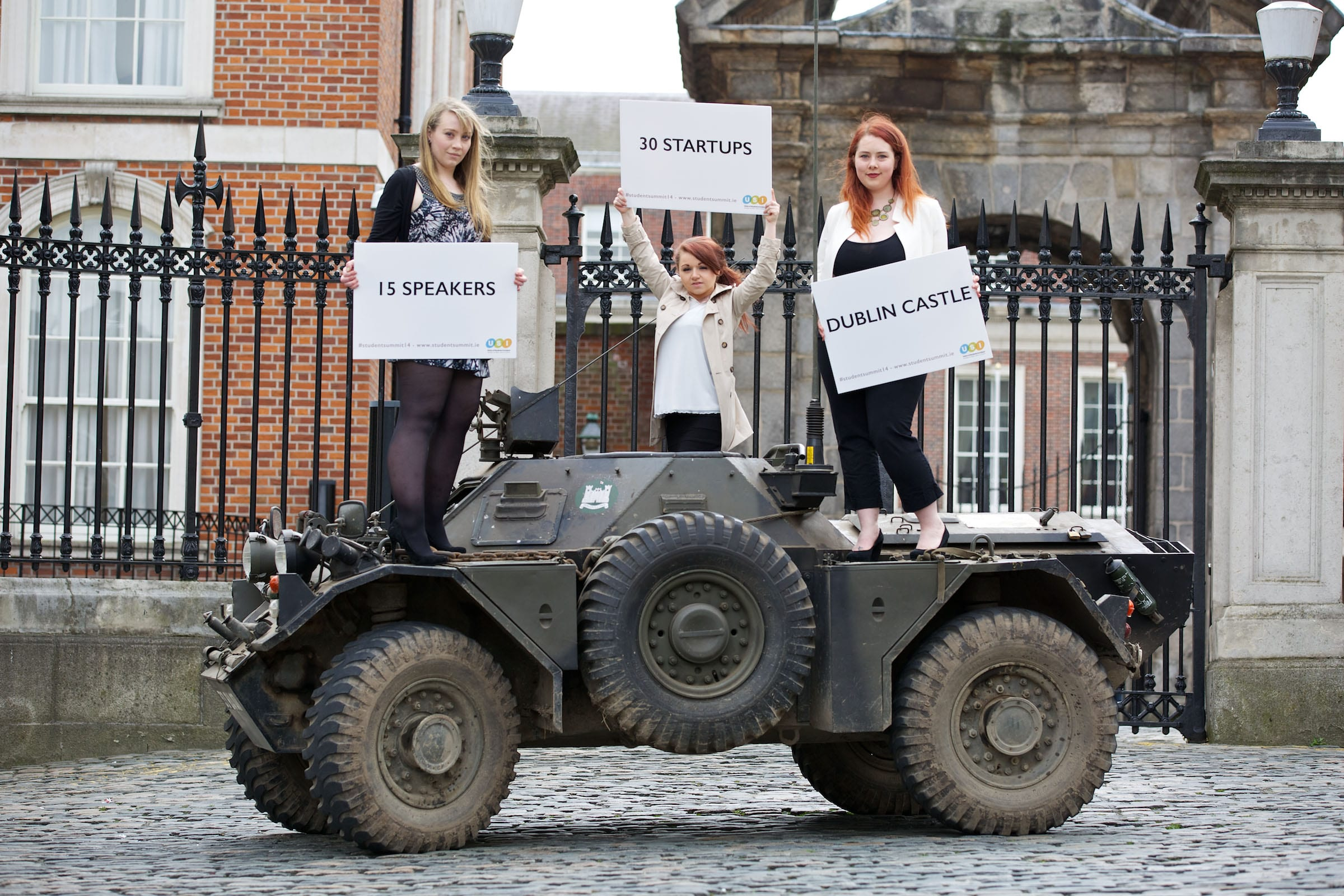 The launch of the USI Student Summit 2014: Student entrepreneurs will be 'invading' Dublin Castle on April 8th.