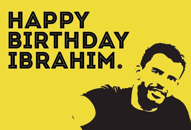 Ibrahim postcard Rear