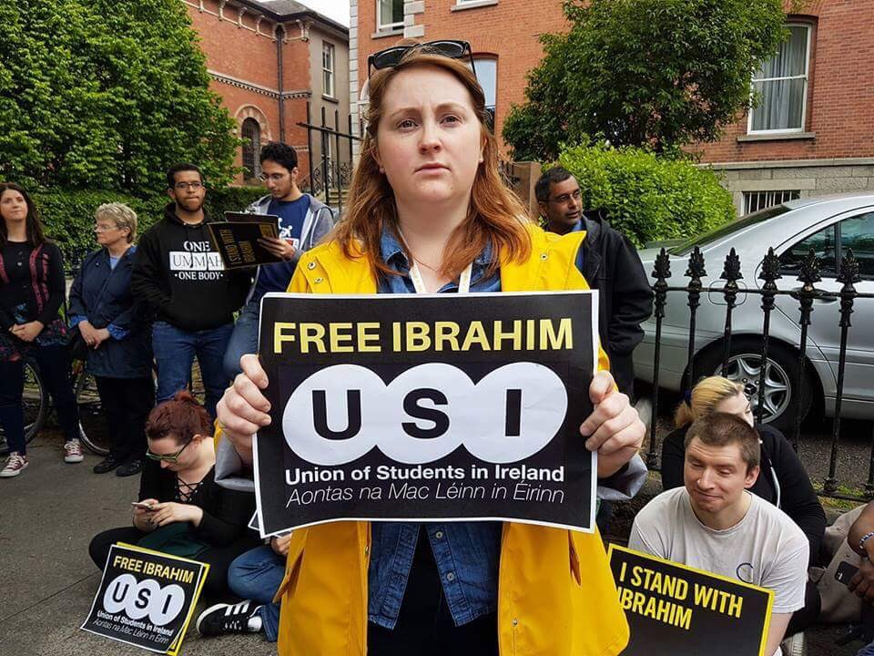 USI Stands With Ibrahim Halawa